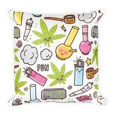 Omg love this throw pillow from shopstaywild.com! #cannabis #marijuana #420 #pot #kush #chronic #phone cover #stoner #stoned #kush #ideas #edibles #cbd