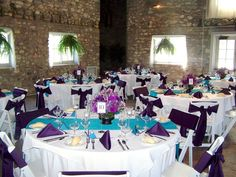 We love the blue and purple combination for a more subtle theme.  Knight's Castle