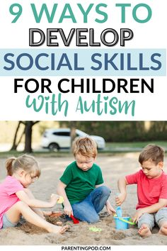 Do you have a child or children diagnosed with Autism Spectrum Disorder? If you're looking for ways to stimulate and develop social skills for your child with ASD, this complete guide will help you out! Autism Spectrum Disorder Symptoms, Emotional Development, Asd, Social Skills, Disorders, Children, Young Children, Boys, Kids