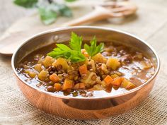 Vegan Recipe: Easy Lentil Soup We aimed to make this lentil soup absolutely vegan: no animal byproducts at all. So keeping that in mind, we of course used a vegetable broth. We also packed this soup with more vegetables: onion, carrots, and potatoes.