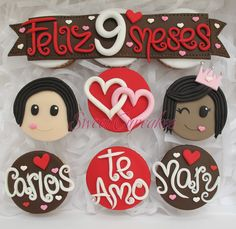 Vanilla cupcakes with milk caramel and special fondant decoration. Bear Cupcakes, Sweet Cupcakes, Love Cupcakes, Fondant Cupcakes, Themed Cupcakes, Vanilla Cupcakes, Wedding Cupcakes, Love Cake, Cupcake Cakes