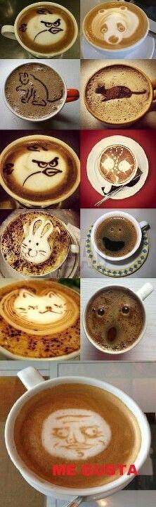 Cappuccino art. #coffee #latte