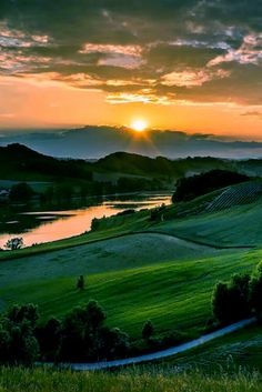 BEAUTIFUL SUNSET TUSCANY, ITALY                                                                                                                                                                                 More