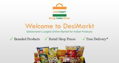 Enjoy free online delivery on all your orders from DesiMarkt, one of the leading Switzerland's largest online indian grocery shopping superstore based in Zurich.