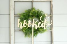 Hooked Cake Topper Fishing Cake Topper by DownInTheBoondocks