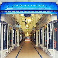 The stylish Princes Arcade in the heart of Mayfair - the perfect place for a spot of shopping! Shop Till You Drop, Perfect Place, Arcade, Lights, Architecture, City, Stylish, Heart, Places