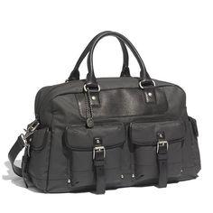 John Varvatos Star USA Coated Canvas Duffel Bag
