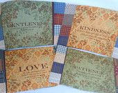 Christian Faithful Multi-purpose mug rugs, mini-placemats - Set of 4 - pinned by pin4etsy.com