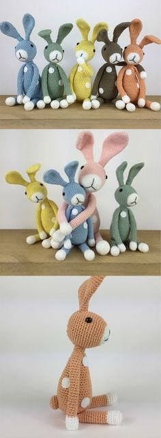 Crochet Bunny Friends #amigurumi #amigurumipattern #crochettoys #knittingtoy #crochet #crochettutorial