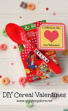 Personalized DIY Cereal Valentines_Giggles Galore FREE PRINTABLE by DimplePrints