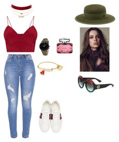 """""""I'm Gucci"""" by candicee-mariee on Polyvore featuring Gucci, CLUSE, Maison Michel and Charlotte Russe"""