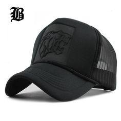 04d33d7861c Hip Hop Black leopard Print Curved Baseball Caps Summer Mesh Snapback Hats  For Women Men casquette Trucker Cap