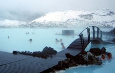 Geothermal Pool in Iceland