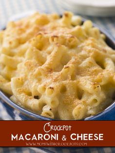 Slow Cooked Macaroni & Cheese- added a little extra cheese and a bunch of garlic salt to the recipe