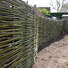 Wonder Wood - Natural Fences and Hurdles Living Willow Fence, Natural Fence, Hurdles, Fencing, Trellis, Outdoor Spaces, Gardens, Google Search, Building
