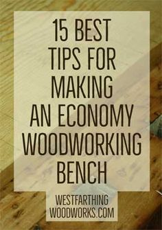 Workbenches that don't break the bank. You can make a great looking economy woodworking bench yourself, and without a lot of tools. It will be less expensive than buying new, and you will get all of the experience in making it too.
