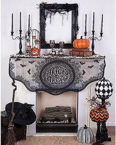 Trick or Treat Mantle Scarf - Decorations - Spirithalloween.com