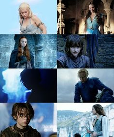 Game of Thrones images in blue