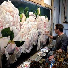 Amazing flower painting. Thomas Andrew Darnell nació el 2 de febrero de 1958. San Antonio, Texas. Pinturas abstractas, flores y paisajes.