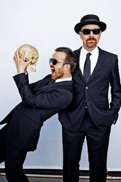 Aaron Paul + Bryan Cranston  Simply the best.