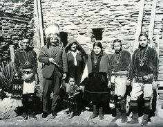 This is the genius Albert Einstein, visiting with a group of Hopi Indians in 1922