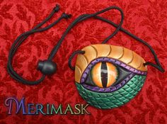 *This item is in stock and ready to ship immediately    Here is a freaky new design; a leather eye patch fashioned to look like the terrifying eye of a