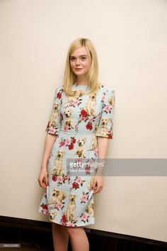 Elle Fanning wearing Dolce&Gabbana at 'The Beguiled' press conference in Los Angeles, CA on June Elle Fashion, Fashion Brand, Runway Fashion, Fashion Models, Fashion Design, Kpop Fashion, Dolce & Gabbana, Dakota And Elle Fanning, Ellie Fanning