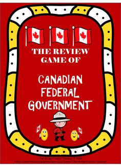 This Review Game of the Canadian Federal Government includes 36 questions and answer cards, a colour game board, a black and white game board. TPT $