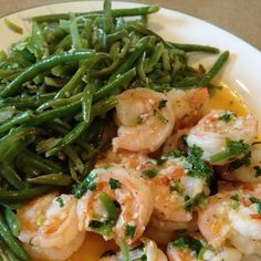 Cilantro Lime Shrimp and Green Beans
