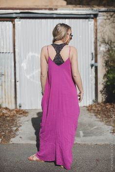 Pocketed Crepe Boho Maxi Dress - Olive Green