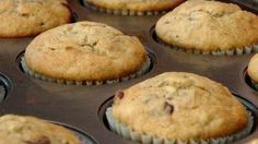 Banana Chocolate Chip Muffins Recipe - Laura in the Kitchen - Internet Cooking Show Starring Laura Vitale