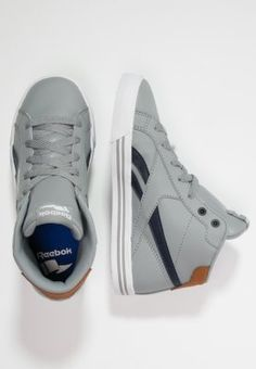 Reebok ROYAL COMPLETE MID - Sneaker high - grey/indigo/white/brown - Zalando.de