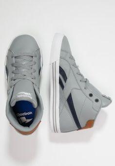 Reebok ROYAL COMPLETE MID - Sneaker high - grey/indigo/white/brown - Zalando.de