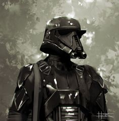 Star Wars Trooper Concept Art - Created by Robin Har