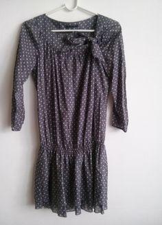 Kup mój przedmiot na #vintedpl http://www.vinted.pl/damska-odziez/tuniki/9170732-szara-tunika-w-biale-groszki-sisley