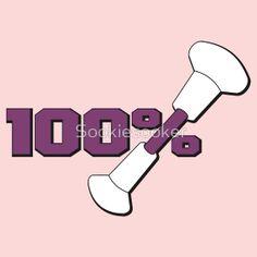100% Baton Twirling T-Shirt Design on RedBubble