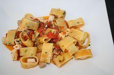 pasta con pesce spada / pasta with sword fish sauce