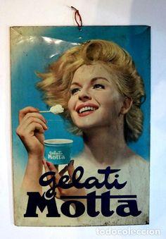 Cartel metálico original Gelati Motta - Foto 1