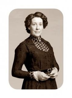 Mrs. Hughes, head housekeeper.  A no-nonsense woman who has a wonderful heart.
