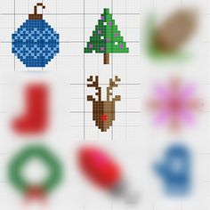 This corner to corner Christmas tree graph is the third of nine free c2c…