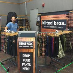 """Our booth at Oddmall looking awesome thanks to eSigns.com! (not pictured is the tall X-wing banner on the left!) 4 Banners from you and we'll be back for more!"" -Kilted Bros."