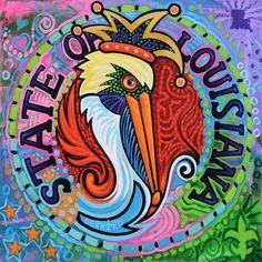 By Louisiana artist Tony Bernard Louisiana Bayou, Louisiana Homes, New Orleans Louisiana, Cajun Decor, Bayou Country, La Art, Down South, Mardi Gras, Artsy