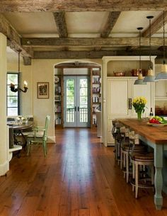 70 Amazing French Country Kitchen Design Ideas - At Home - taktak decor French Country Rug, French Country Bedrooms, French Country Living Room, French Cottage, French Country Decorating, Cottage Art, Cottage Decorating, Rustic Country Kitchens, Country Kitchen Designs