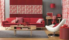 Contemporary Red Couch Decorating Ideas And The Beautiful Interior  Furniture: Red Color Decoration In Sofa
