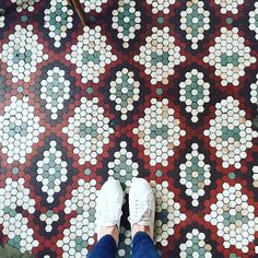 That's When I Saw Her Ohh I Saw Her She Walked In Through The Out Door Out Door. #ihavethisthingwithfloors#ihavethisthingwithcolor#ihavethisthingwithtiles#carrelage#design#interiordesign#instagood#instadaily#jj#lookingdown#newyork#picoftheday#photooftheday#floors#travelphotography#lifewelltravelled#singaporegypsy#tiles#tileaddiction#tiletuesday#viewfromthetop#red#pattern#travel#superga#sunday#love#ihaveathingwithfloors by singaporegypsy