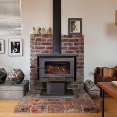 Wood Burning Stove,  a use for the bricks