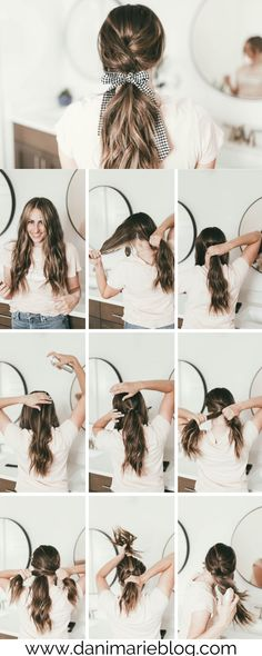 A simple pony tail that can get you out the door quickly! This hair tutorial is easy and something anyone can do.