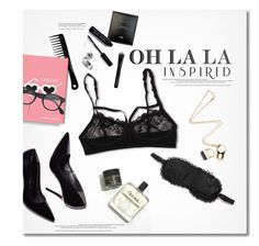 """Oh La La Inspired"" by anna-anica ❤ liked on Polyvore featuring Bobbi Brown Cosmetics, Hanky Panky, L'Agent By Agent Provocateur, Givenchy and J.Crew"