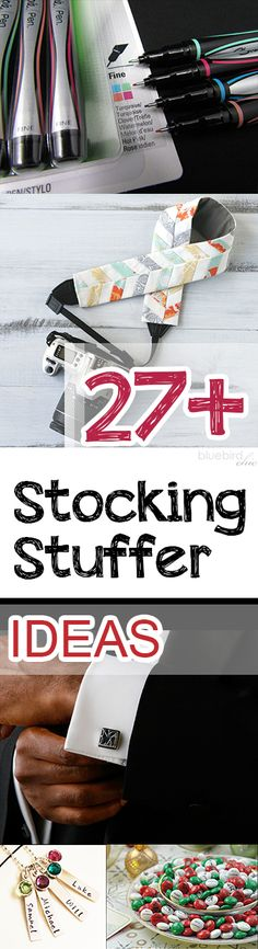 27+ of my absolute favorite ideas for stocking stuffers this season. All are incredibly thoughtful AND easy!