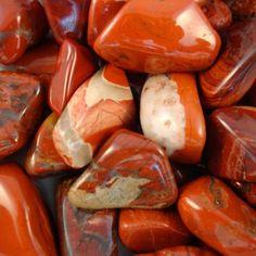 Rode Jaspis Trommelsteen